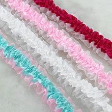 5 Yards Width 4cm Stretchy pleated Snow yarn ruffles lace for Fabric Accessories  Cloth Headwear Crafts