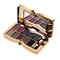 New 10 Colors Diamond Bright Eyeshadow Palette Maquiagem Flash Glitter Eyeshadow with Brush Mirror paleta de sombra