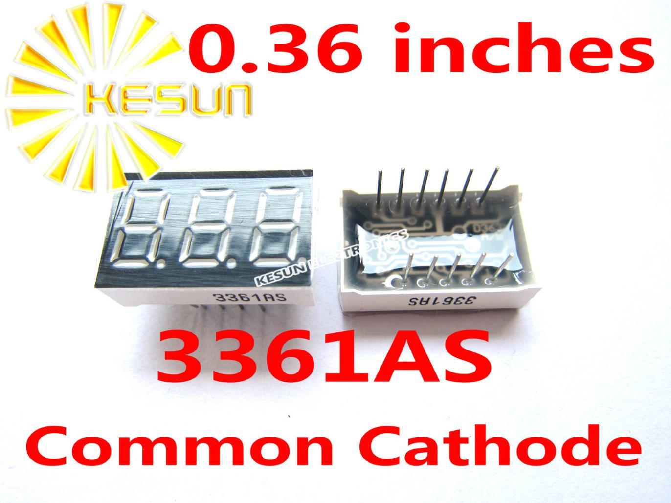 100PCS X 0.36 Inches Red Green Blue 3 Digital Tube LED Display Module 3361AS 3361BS 3361AG 3361BG 3361AB 3361BB