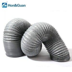 Image 2 - Hon & guan 5 m/10 m tubo de escape ventilador flexível de alumínio duto ventilação duto mangueira de ventilação para ventilação doméstica (4 8 8 8 8 8 gray, cinza)
