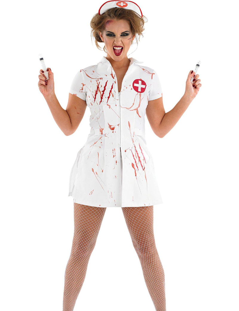 moonight scary nurse halloween costume adult sexy doctor cosplay women halloween costumeschina - Cheap Creepy Halloween Costumes