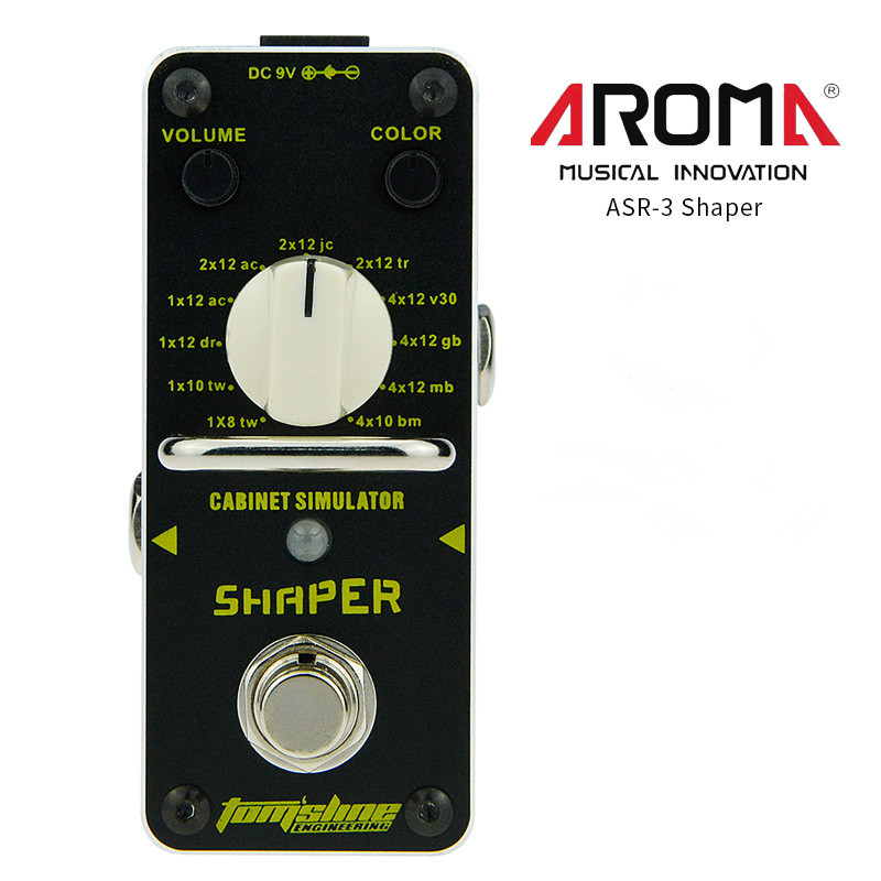 AROMA ASR-3 Case Simulator Shaper Electric Guitar Single Block Effects Pedal Drive Booster Ture Bypass Guitar Parts & Accessorie aroma asr 3 asr 3 shaper classic cabinet simulator mini digital guitar effect pedal aluminium alloy pedals with true bypass
