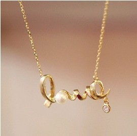 Choker Collares Link Chain Pendant Necklaces Acrylic Trendy Face Real Collier New Fashion Cheap Chic Love Word Necklace N0677g
