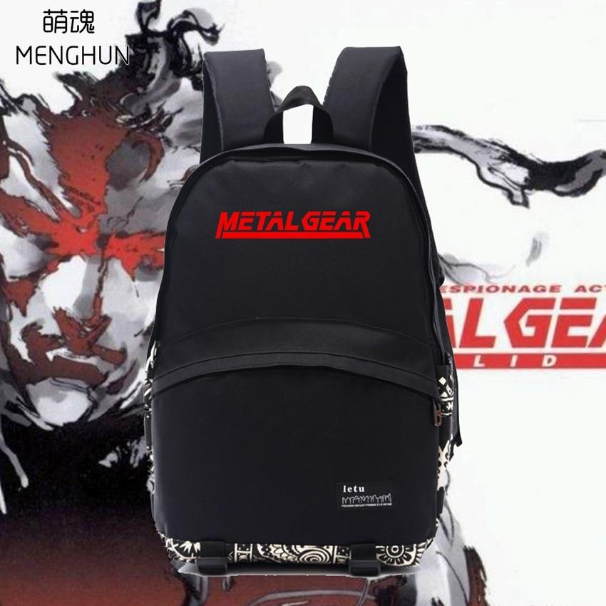 MGS Fans Backpacks Metal Gear Bag Cool Men's Nylon Backpack Metal Gear Solid Backpack NB252