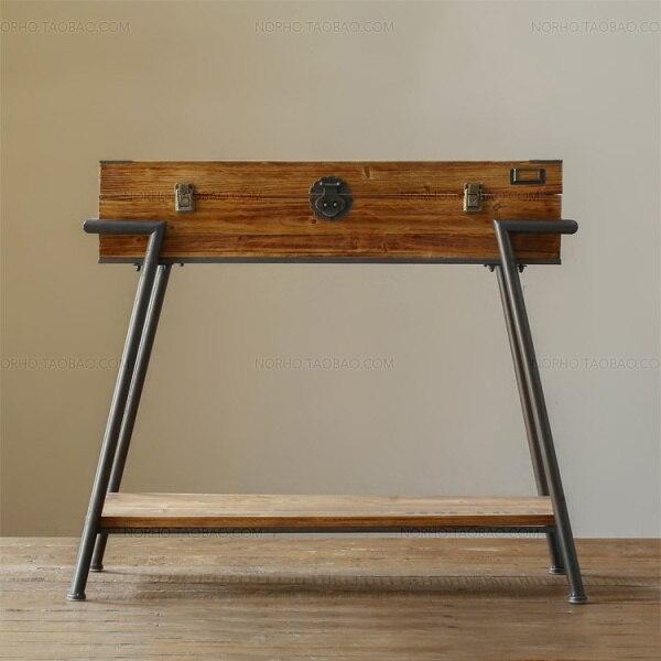 LOFT American Country Furniture Japanese MUJI MUJI Industrial Wood Side  Table Drawer Cabinet Shoe Rack Storage Box Bedside
