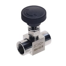 цены Free Shipping Stainless Steel 304 Needle Valve 1/8'' 1/4'' 1/2'' Female Thread BSP SS304 For Water Gas Oil