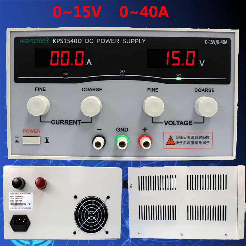 Adjustable Digital DC power supply Single phase 15V 40A AC DC Voltage Regulators High Power Switching power supply normally open single phase solid state relay ssr mgr 1 d48120 120a control dc ac 24 480v