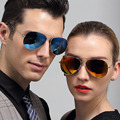 2016 Summer Hot Classic Aviator Colored Sunglasses Polarized Mirror Metal Frame TAC Polaried lenses glasses for Male Female