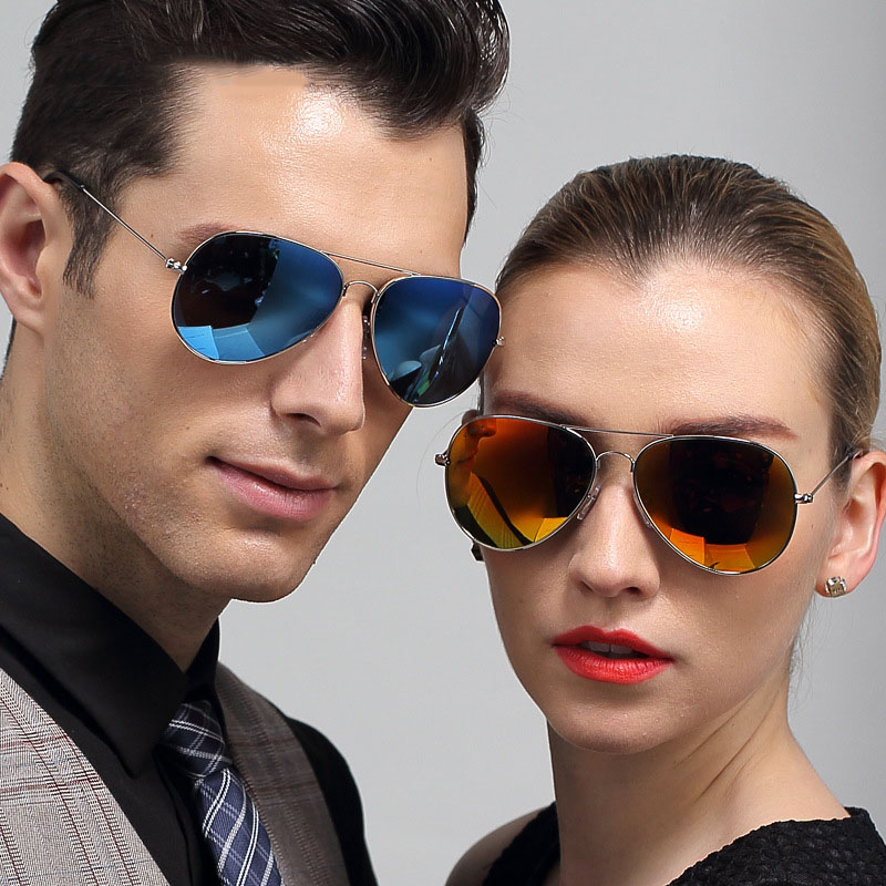 2016 Summer Hot Classic Aviator Colored Sunglasses Polarized Mirror Metal font b Frame b font TAC