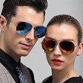 2016 Verão Quente Clássico Aviador Coloridos Óculos Polarizados Óculos de lentes de Espelho de Metal Quadro TAC Polaried óculos para o Sexo Masculino Feminino