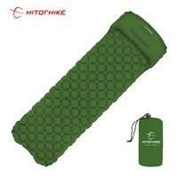 Hitorhike Inflatable mattress Cushion Sleeping Bag Mat Fast Filling Air Moistureproof Camping beach Mat With Pillow Sleeping Pad