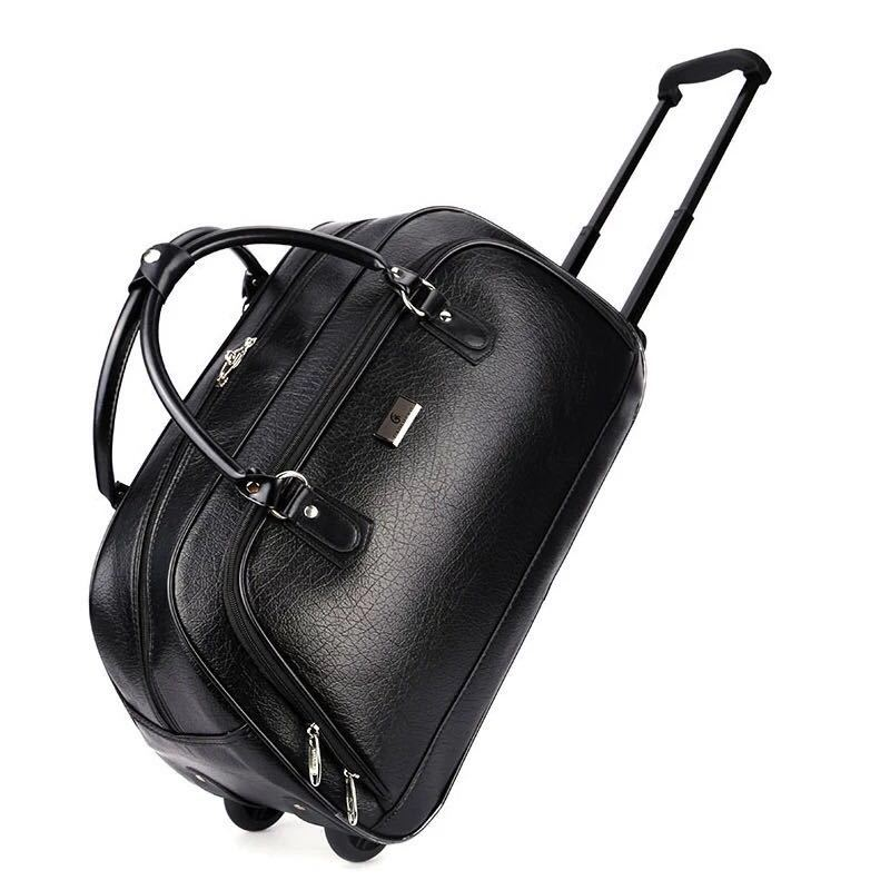Luggage & Bags Travel Bags Womens Large-capacity Travel Bag Pu Heavy-duty Rolling Luggage Womens Trolley Luggage Mens Suitcase Travel Bag With Wheels