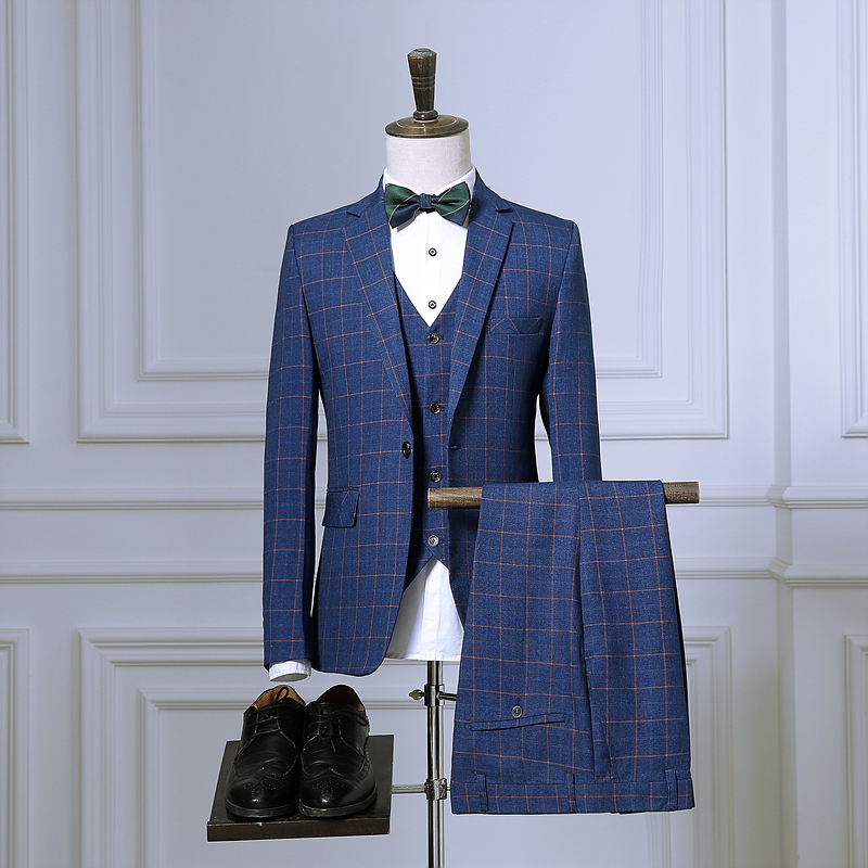Hommes Hommes Pantalon Veste Avec Costume Gilet Pcs De 3 Mesure Smoking Sur wBrwqR