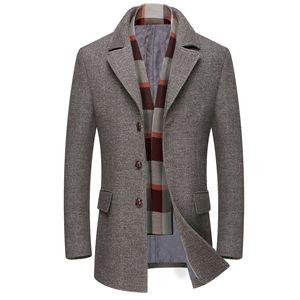 Image 2 - Erkek Casual Trençkot Moda Iş Uzun Kalınlaşmak Ince Palto Ceket Avrupa boyutu Dropshipping