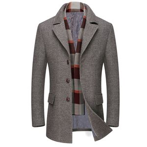 Image 2 - Mens Casual Trench Coat Fashion Business Long Thicken Slim Overcoat Jacket European size Dropshipping