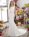 Dreagel Роскошный Кристаллический Вышитый Бисером Пояса Свадебные Платья 2016 Популярные Назад Бретельках Бисероплетение Атласная Русалка Vestido де Noiva