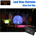 2 м * 4 м светодиодная ткань Starcloth по индивидуальному заказу RGBW светодиодные фоны одноцветная звезда ткань светодиодная занавеска сценически...