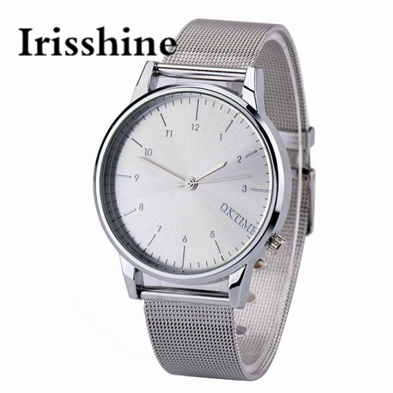 Irisshine I0800 Unisex Watches Women Men Couple Love Gift  Metal Business Men's Watch Analog Quartz Vogue Fashion Table