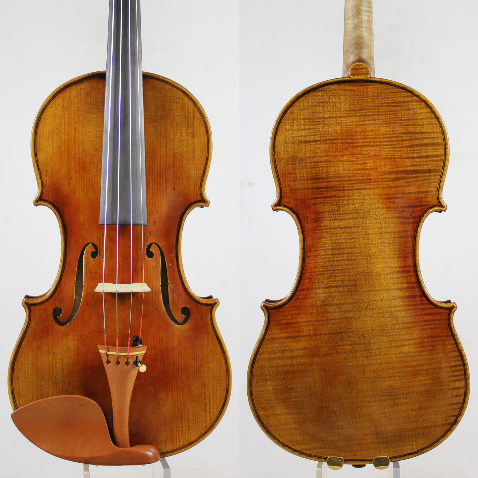 60 y old Spruce Guarnieri del Gesu Ole Bull Violin violino Copy M9018 One Pc Back