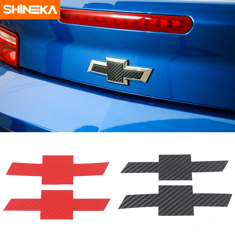 Red 2pcs 3D Metal Camaro Emblem Decal Rally Sport RS SS Red-Line Car Nameplate Sticker Replacement for Chevy Camaro