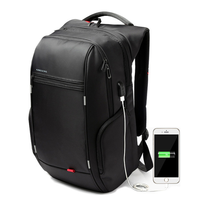 Marca Mochila Portátil de 15.6 Pulgadas Mochila Portátil Impermeable Para Hombres Mujeres Ordenador Cargo USB Externo Antirrobo Bolsa Mochilas