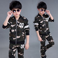 european kids Fashion Costumes Boys Spring Autumn 2 pieces Coat and pants Boys Clothing Sets Full Sleeve Camouflage Kids outfits