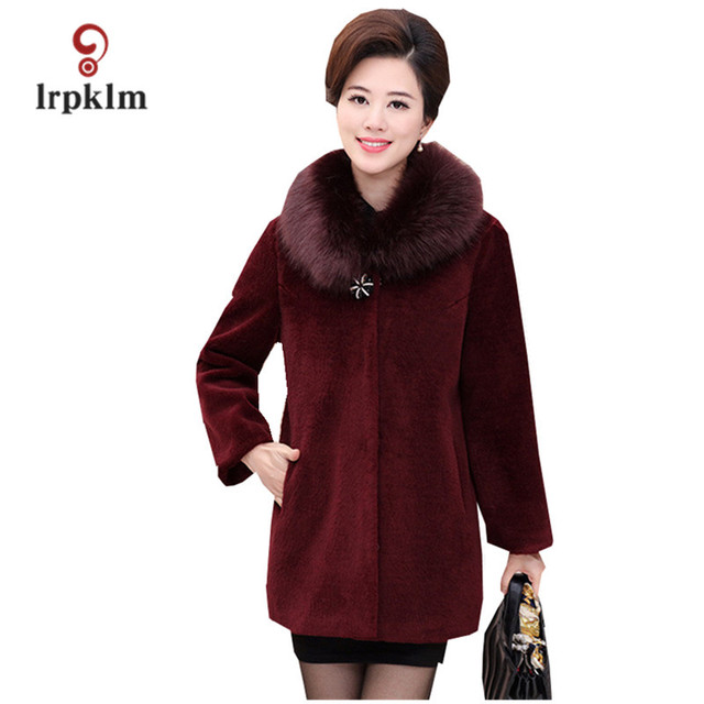 Faux Fur Coat Women Colored Wine Red Black Grey Fake Fur Jacket Fake Fur  Coats Long 0cec2ed9b