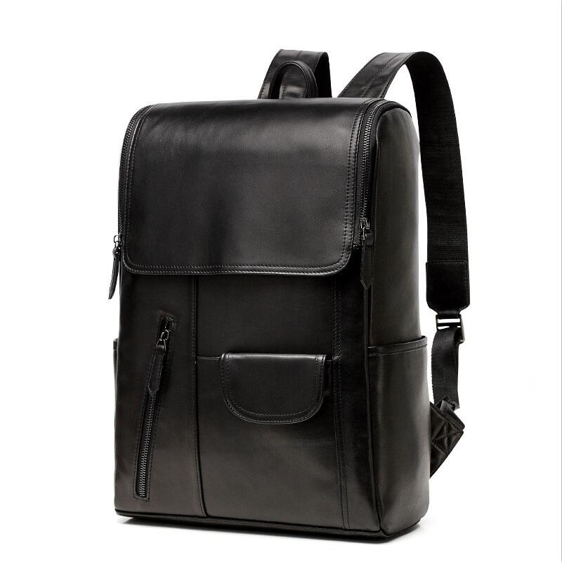 """13/"""" New Large Genuine Leather Backpack Rucksack Travel Bag For Men/'s and Women/'s"""