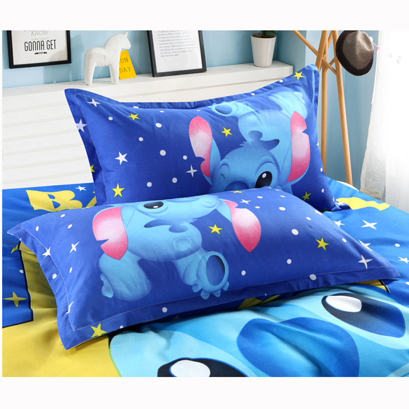 Disney Lilo and Stitch Bedding Set 3/4 Pieces Blue Comforter Cover 3D Children Bedroom Decor for 1.5m Bed 5