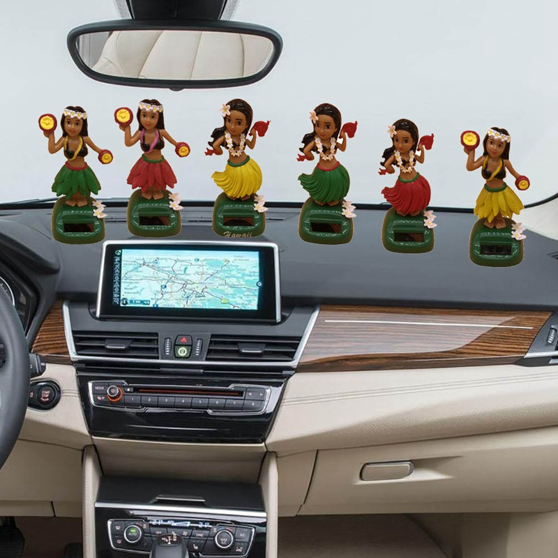 . US  1 76 5  OFF Solar Powered Shaking Head Toy Auto Interior Dashboard  Decoration Hawaii Girl Car Ornaments Auto Accessories in Ornaments from
