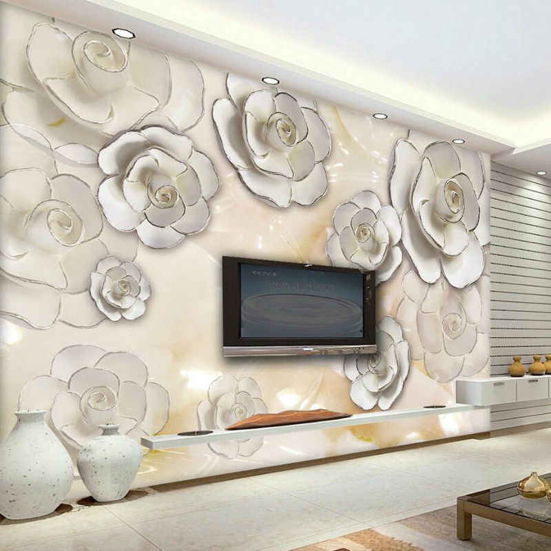 3d Wallpaper for Living Room Home Improvement Modern Wallpaper Background Wall Painting Mural Silk Paper Embossment Flower 10m victorian country style 3d flower wallpaper background for kids room mural rolls wallpapers for livingroom wall paper decal