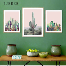 JUBEER Scandinavian Style Cactus Print Poster Paintings On The Wall Art Plant the Picture for Living Room Posters Home Decor