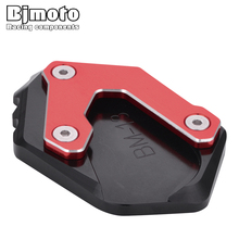 BJMOTO Motor Kickstand Extension For BMW R1200GS LC 2013-2018 R1200GS Rallye R1250GS Motocross Plate Foot Side Stand Enlarge Pad