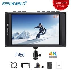 Feelworld F450 DSLR On Camera Monitor 4K HDMI 4.5 IPS HD 1280x800 LCD Screen for Sony Canon Nikon Zhiyun Gimbal Stabilizer Rig