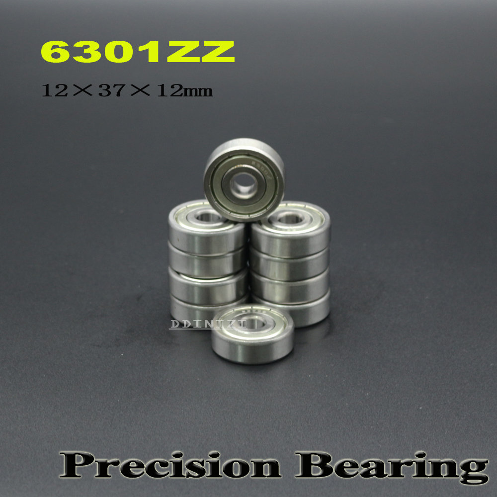 6301ZZ Bearing 12*37*12 Mm ABEC-3 For Blower Vacuums Saw Trimmer Deep Groove 6301 Z ZZ Ball Bearings 6301Z ( 4 PCS )