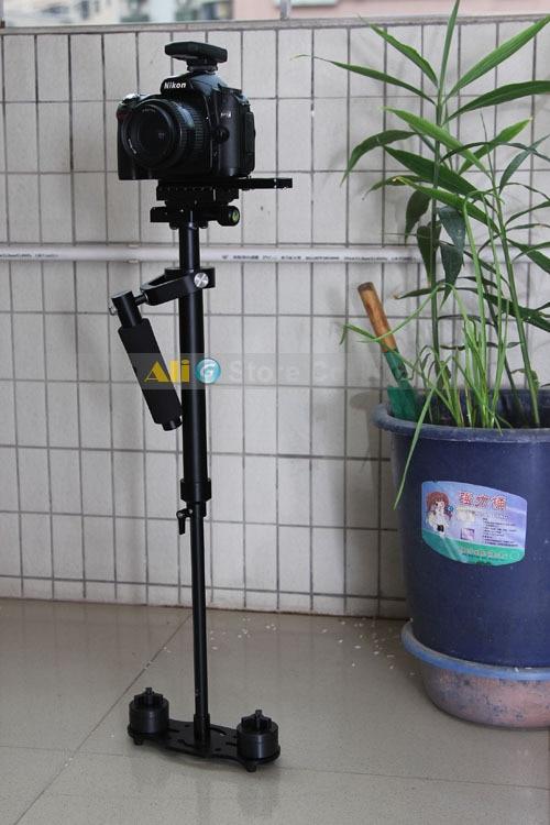 Monopode professionnel de trépied de stabilisateur tenu dans la main d'appareil-photo de DSLR avec la plaque de dégagement rapide S60