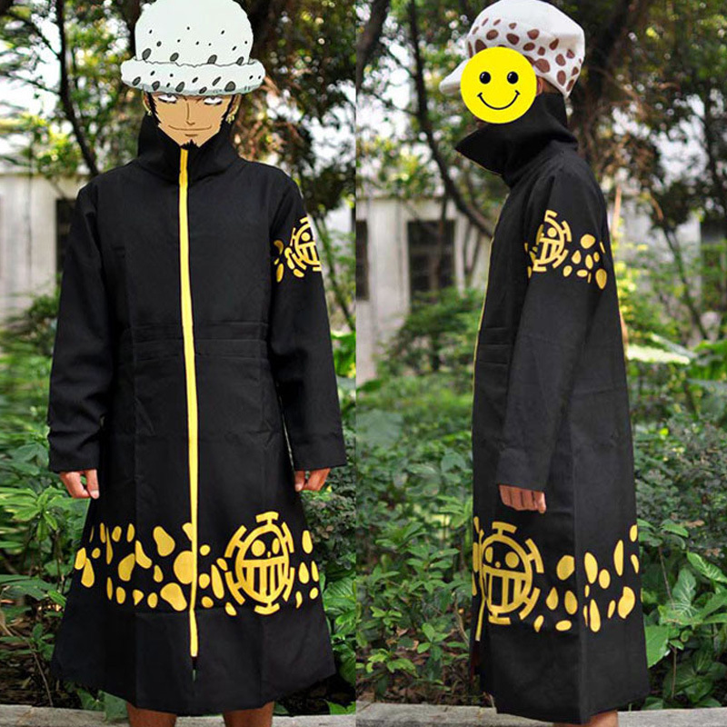 Anime One Piece Trafalgar Law Cosplay Costume Cloak Unisex Halloween Dress Party