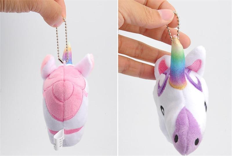 Hot Sale Rainbow Unicorn  Plush Toys Cute Anime Cartoon Unicorn Horse Animal Dolls Small Key Bag Pendants Keychain  (12)