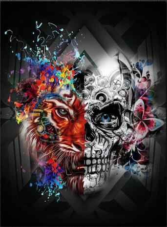 Diamond Painting Christmas Halloween Gifts Custom Cat Bird Dog Skull Hibah Home Decor Pintura Diamante Ponto