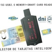 USB считыватель смарт-карт pc/sc scr80 поддержка SD(7 в 1) micro SD MS(3 в 1) M2 SIM iso7816 ic смарт-карта с SDK кардридер