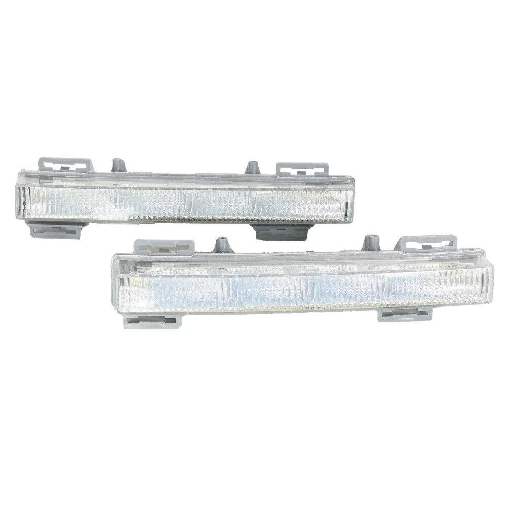 Pour Mercedes Benz W166 Ml-class ML350 ML500 X204 GLK350 GLK250 2012 2013 2014 2015 LED DRL Lumière