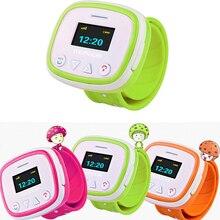 1 unid nueva llamada niños estudiante kids smart watch relojes de pulsera gps de rastreo de posición de emergencia sos monitoreo remoto anti-perdida h4
