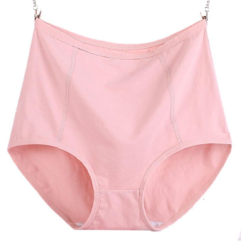 Image 5 - 3pcs/Lot Big Size XL 6XL Sexy High Waist Womens Cotton Solid Panties Breathable Briefs Underwear Lingerie Pantieswomens panties   -