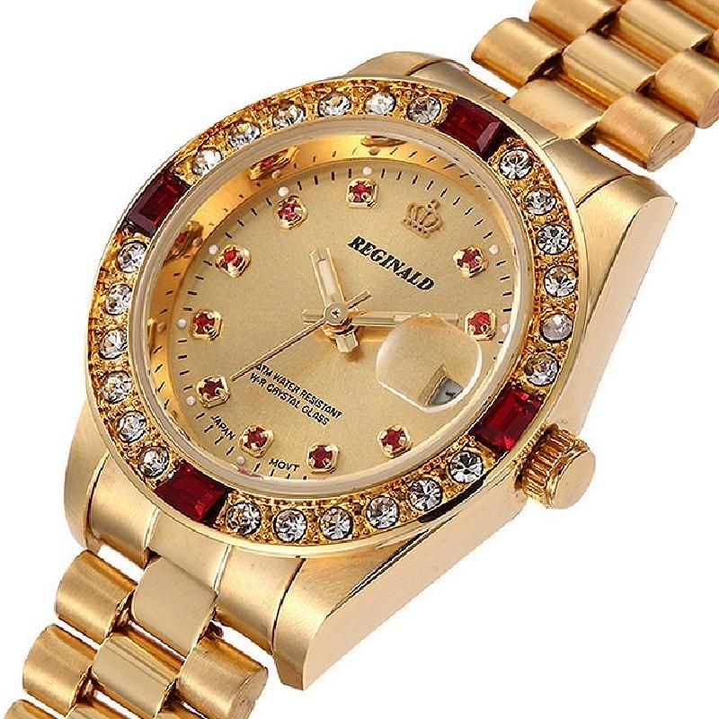 Kwaliteit REGINALD Merk Horloges Dames Top Luxe Vol Staal Diamanten - Dameshorloges - Foto 4