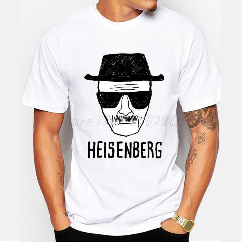2018 Мужская модная футболка Heisenberg с 3D принтом, рубашка с принтом Уолт, белая футболка с короткими рукавами, хипстер, хит продаж, топы