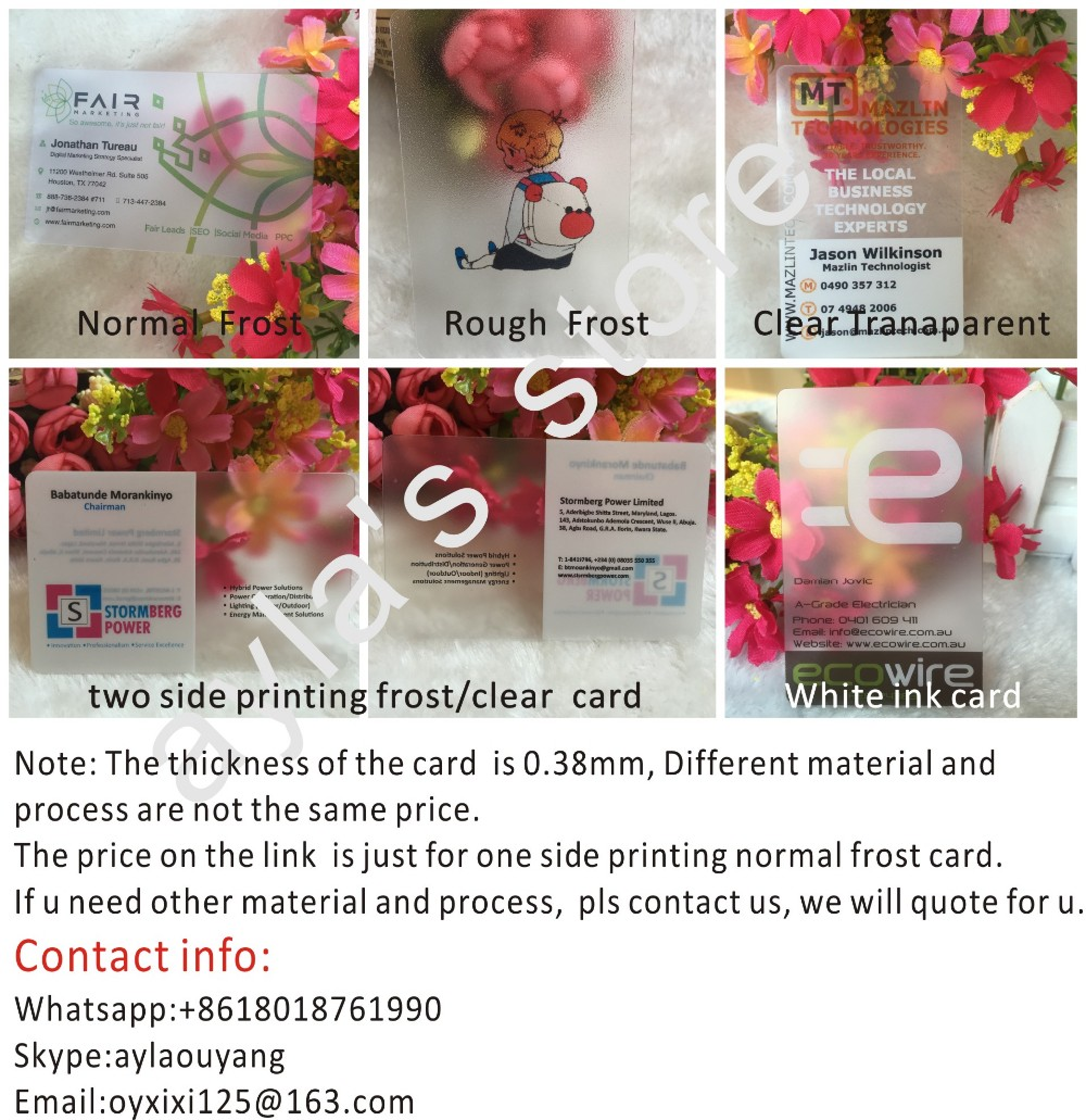 custom business cards printing 200 pcs/lot customized frosted ...