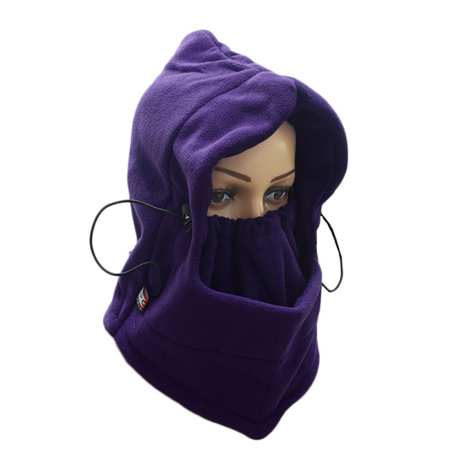 Cycling Mask Outdoor Windproof Winter Fleece Hat Increase Fleece Mask Ski Hat Riding Mask to Protect The Face And Neck