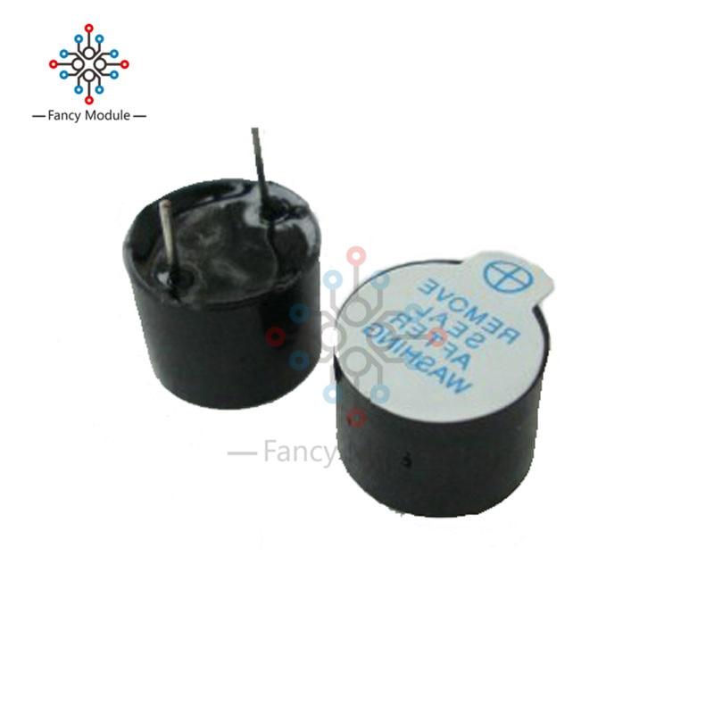 10pcs 5v Active Buzzer Magnetic Long Continous Beep Tone Alarm Ringer 12mm Piezo