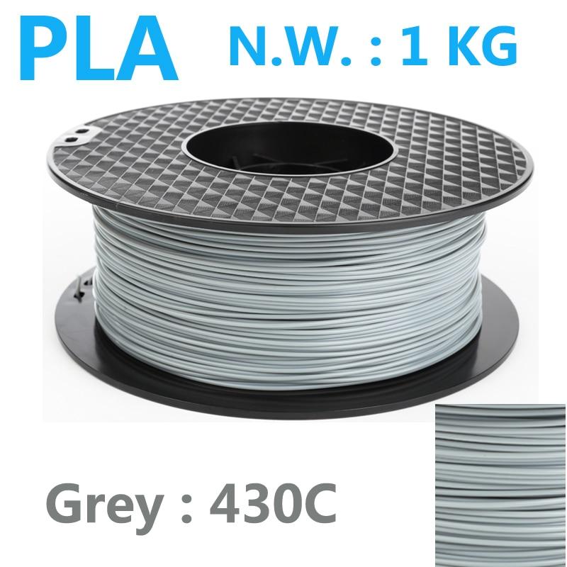 430c ग्रे रंग पीएलए फिलामेंट 1.75 मिमी 1 किलो इंफोरा 3 डी पेन प्लास्टिक फिलामेंट उच्च शक्ति संयुक्त राज्य अमेरिका प्राकृतिक 3 डी प्रिंटर फिलामेंट प्ला