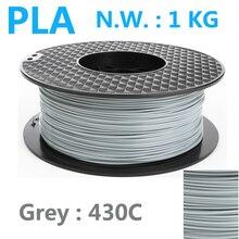 430c Grey color pla filament 1.75mm 1kg impressora 3d pen plastic filament high strength USA Natural 3d printer filamento pla